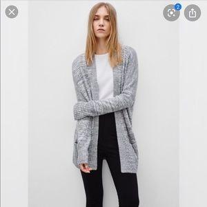 ARITZIA TALULA heather grey cardigan